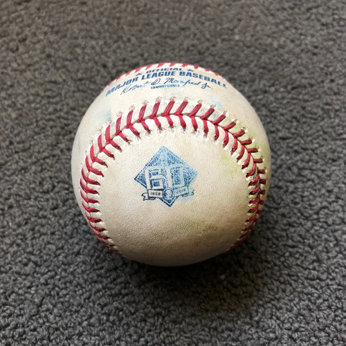 Photo of San Francisco Giants - 2018 Game-Used Baseball -  Andrew McCutchen - Double to LF - 5/19/18 vs. Colorado Rockies