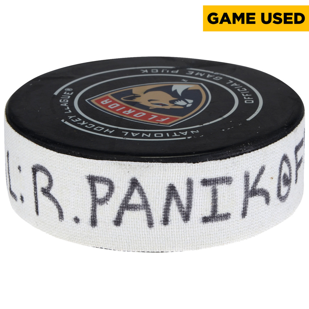 Richard Panik Arizona Coyotes Game-Used Goal Puck from March 24, 2018 @ Florida Panthers