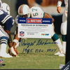 HOF - DOLPHINS DWIGHT STEPHENSON 11X14 FRAMED PICTURE W/ 1985 MAN OF THE YEAR INSCRIPTION
