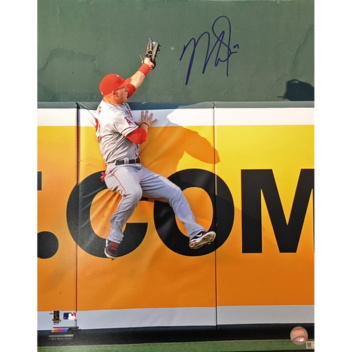 Photo of Mike Trout Autographed 8x10 - The Catch