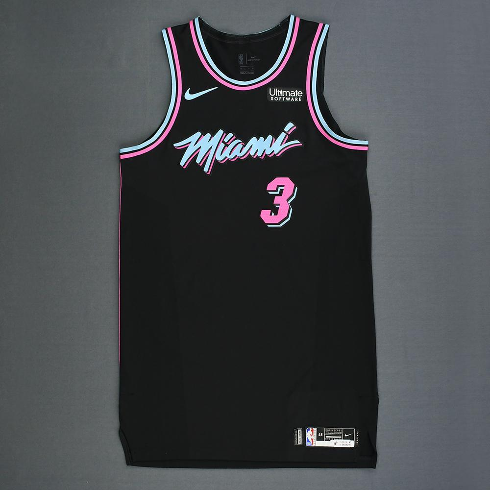 pretty nice f51b9 d4b93 Dwyane Wade - Miami Heat - Game-Worn City Edition Jersey ...