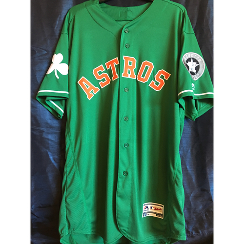 Photo of Josh James 2019 Team-Issued St. Patrick's Day Jersey (Size 48)
