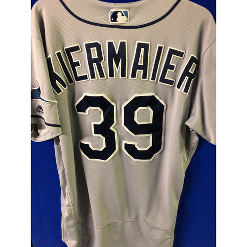 Photo of Game Used INSIDE THE PARK HOME RUN Road Jersey: Kevin Kiermaier - May 23, 2019 at CLE