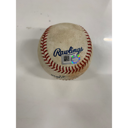 Photo of Game Used Baseball: Yu Chang's MLB Debut - Pitcher: Miguel Castro, Batter: Roberto Perez - Single - 6/28/19 vs BAL