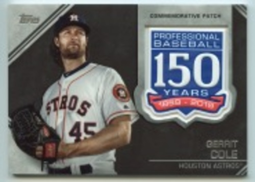 Photo of 2019 Topps Update 150th Anniversary Manufactured Patches #AMPGC Gerrit Cole