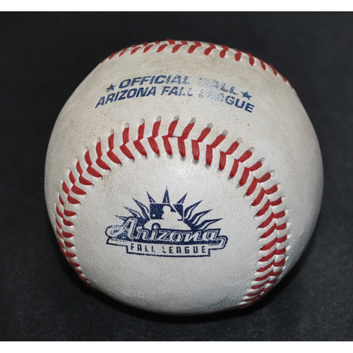 Photo of Game-Used Baseball: 2019 Arizona Fall League - Pitcher: Matt Brill (ARI), Batter: J.J. Matijevic (HOU) - Homerun - Top 9 - 10/18/2019