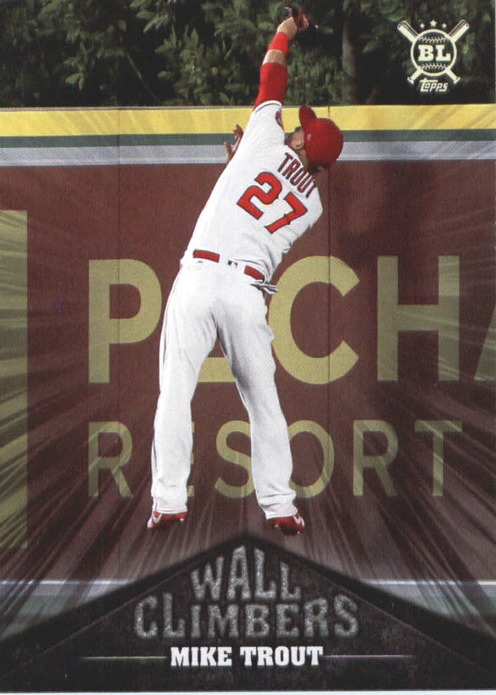 2019 Topps Big League Wall Climbers #WC10 Mike Trout