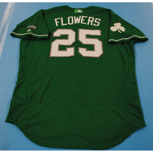 Photo of 2016 Spring Training - Spring Training St. Patrick's Day Game Used Jersey - Tyler Flowers (Braves)- Size- 50