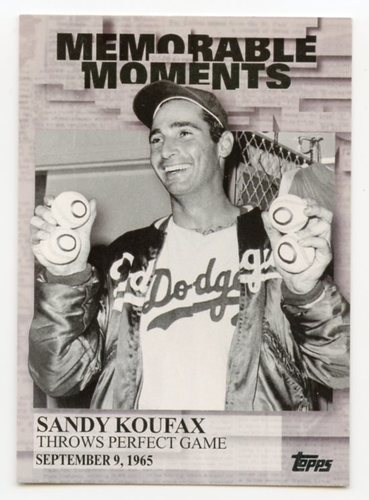 Photo of 2017 Topps Memorable Moments #MM6 Sandy Koufax
