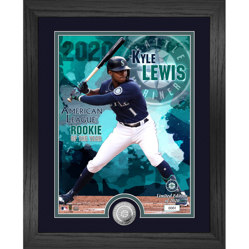 Photo of Kyle Lewis 2020 AL Rookie of The Year Silver Coin Photo Mint