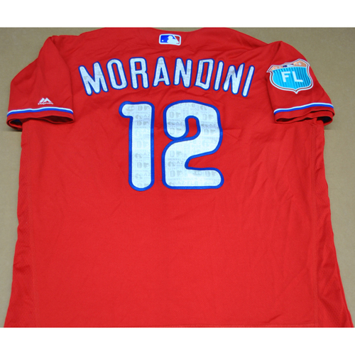Photo of Game-Used 2016 Spring Training Jersey - Mickey Morandini - Size 46 - Philadelphia Phillies