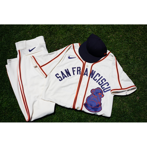 Photo of 2021 Game-Used or Team-Issued San Francisco Sea Lions Negro League Throwback Uniform - #31 LaMonte Wade Jr. - Size 46