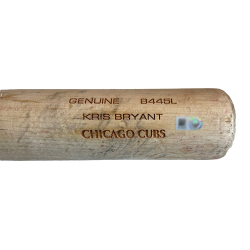 Photo of Kris Bryant Game-Used Cracked Bat -- Anthony DeSclafani to Kris Bryant, Ground Out, Top 3 -- Cubs at Giants -- 6/3/21