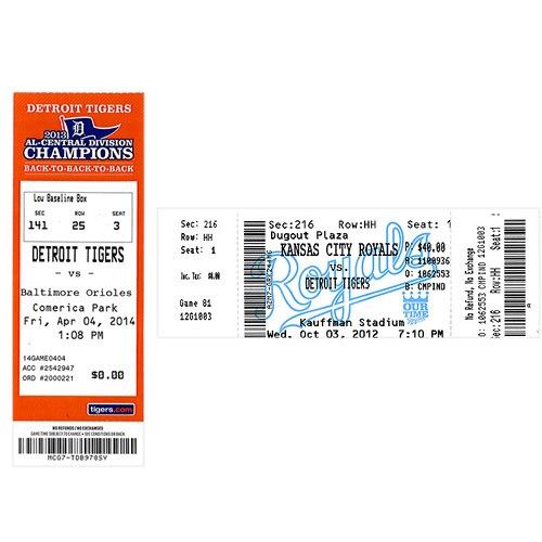 Photo of Detroit Tigers Miguel Cabrera Triple Crown and 2,000 Hit Ticket Combo