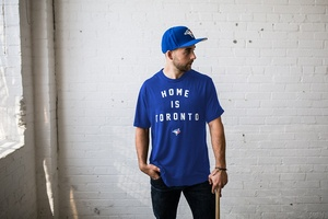 Toronto Blue Jays Home is Toronto Royal T-Shirt by Peace Collective
