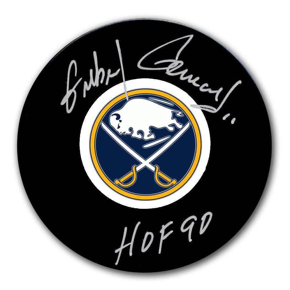 Gilbert Perreault Buffalo Sabres HOF Autographed Puck