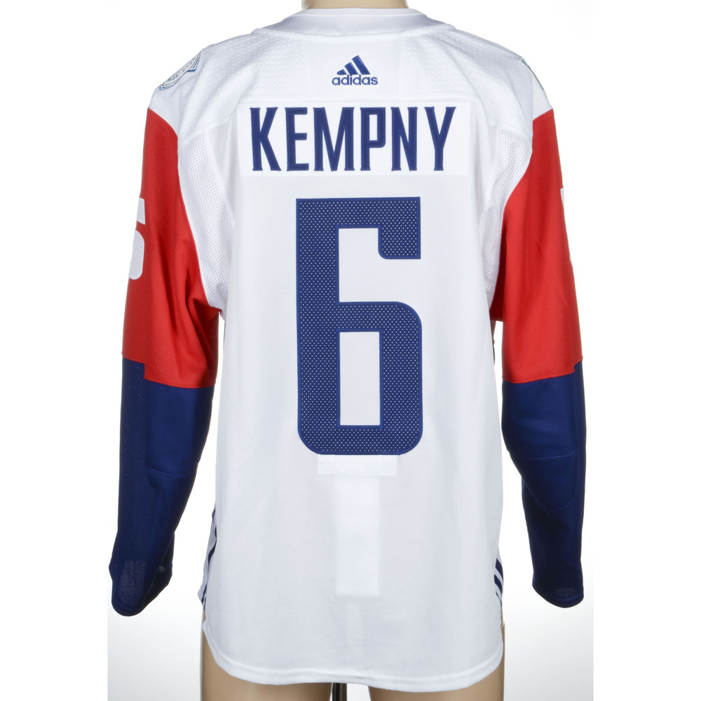 Michal Kempny Chicago Blackhawks Game-Worn 2016 World Cup of Hockey Team Czech Republic Jersey, Worn Against Team Canada During September 17th
