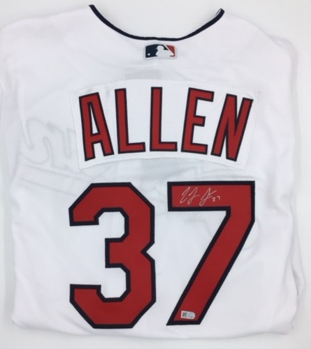 Photo of Cody Allen Autographed Authentic Indians Jersey