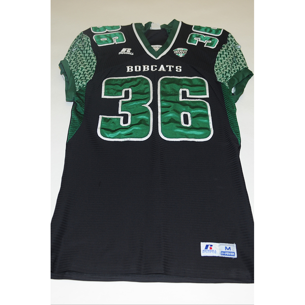 Photo of # 36 - Official OHIO BOBCATS Game Worn Football Jersey (2011) - SIZE MEDIUM