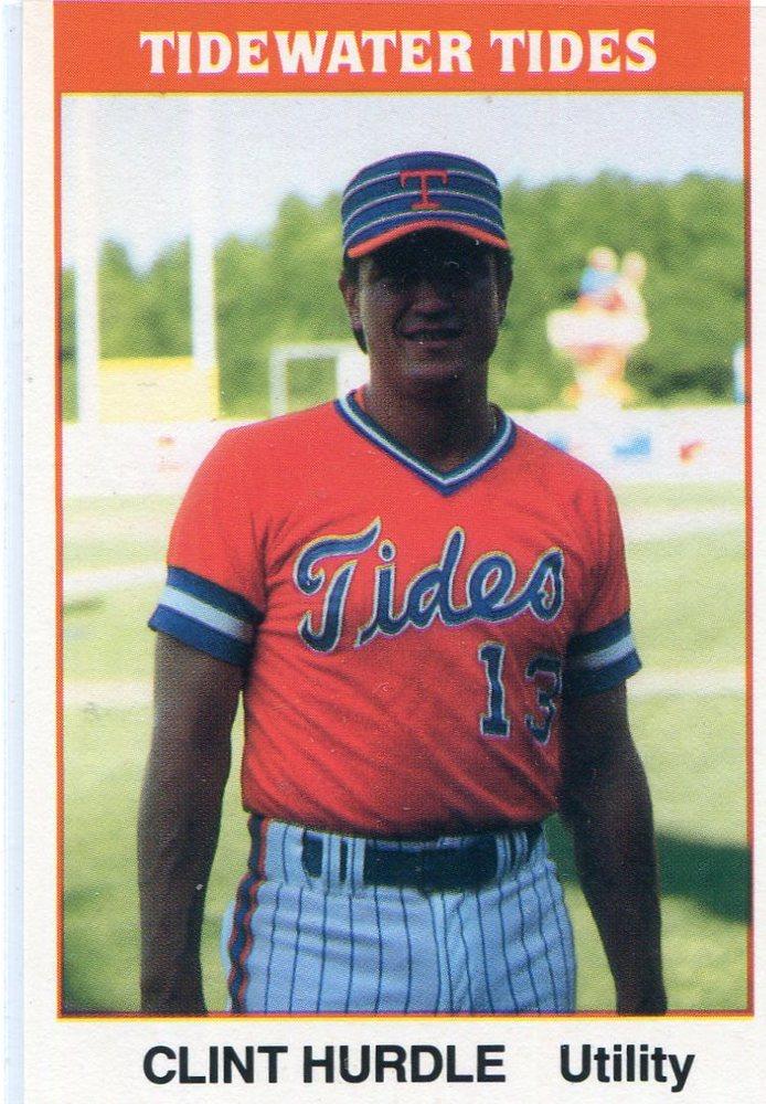 1987 Tidewater Tides TCMA #22 Clint Hurdle