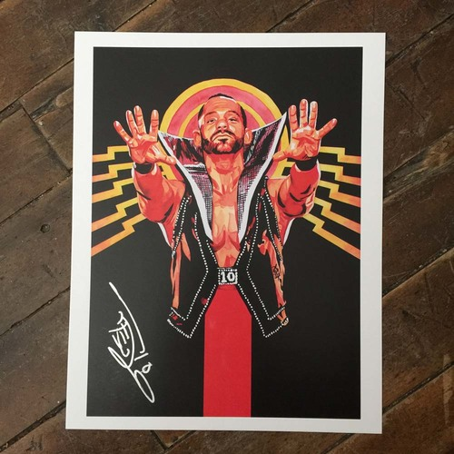 Tye Dillinger SIGNED 11 x 14 Rob Schamberger Print
