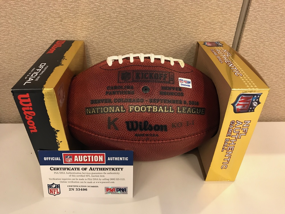 NFL - Game used ball 2016 NFL Kickoff Broncos vs. Panthers