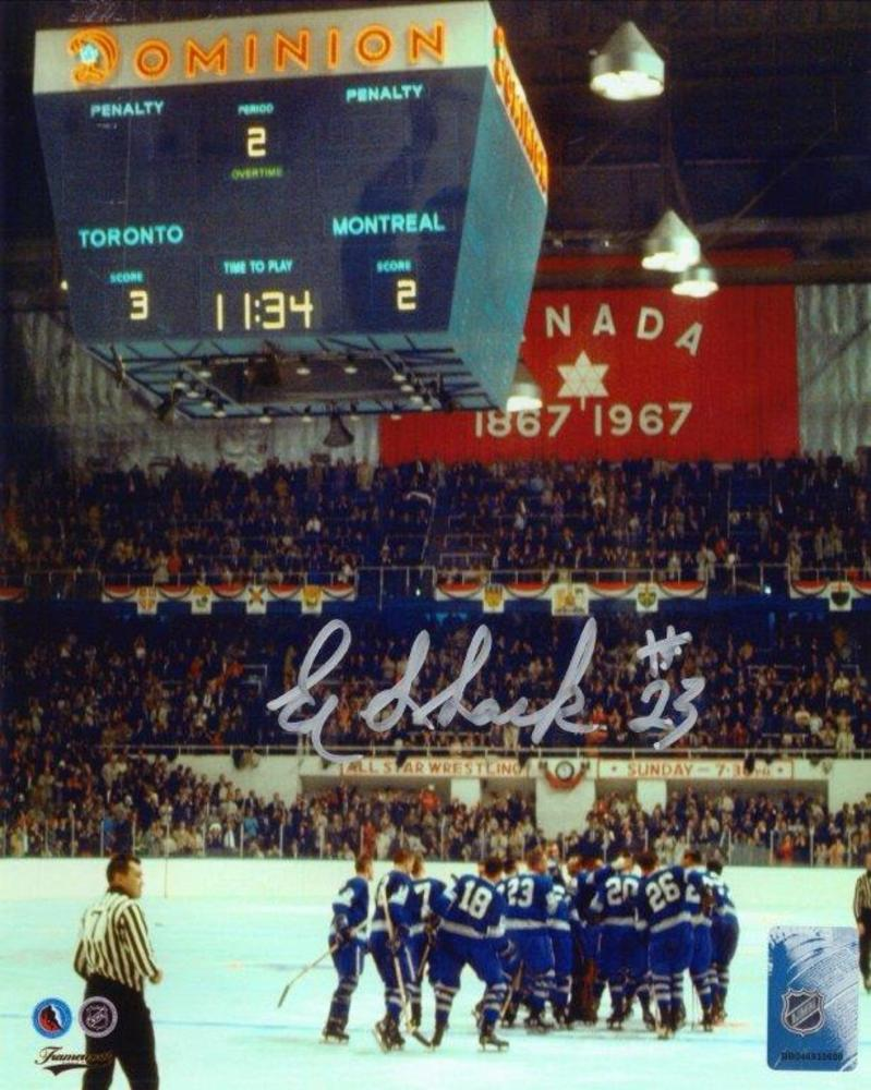 Eddie Shack - Signed 8x10 Unframed Toronto Maple Leafs 1967 Stanley Cup Finals-V
