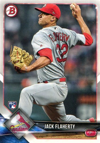 Photo of 2018 Bowman #78 Jack Flaherty  -- Rookie Card