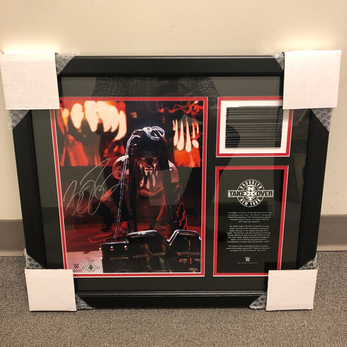 Photo of Finn Bálor Autographed NXT TakeOver: Brooklyn Ladder Piece Plaque (#2 of 25)