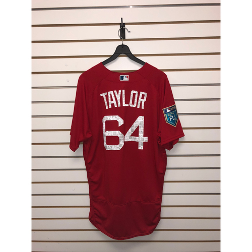 Photo of Ben Taylor Team Issued 2018 Spring Training Jersey