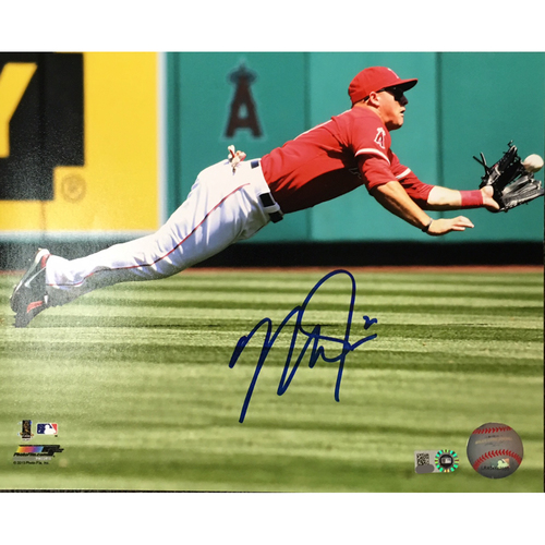 Photo of Mike Trout Autographed 8x10 - Diving