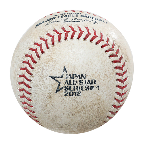 Photo of 2018 Japan Series Game-Used Baseball - Batter: Shogo Akiyama, Pitcher: Matt Andriese - Single, Top 3rd