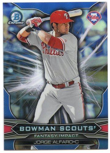 Photo of 2015 Bowman Chrome Draft Scouts Fantasy Impacts #BSIJA Jorge Alfaro