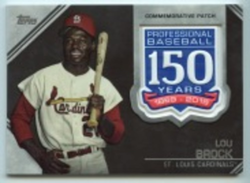 Photo of 2019 Topps Update 150th Anniversary Manufactured Patches #AMPLB Lou Brock