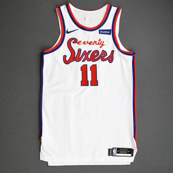 Image of James Ennis III - Philadelphia 76ers - Game-Worn Classic Edition 1970-71 Home Jersey - 2019-20 Season