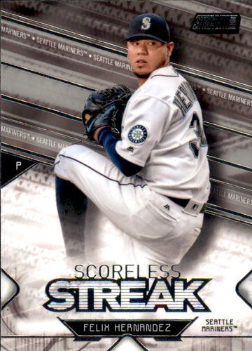 Photo of 2017 Stadium Club Scoreless Streak #SSFH Felix Hernandez
