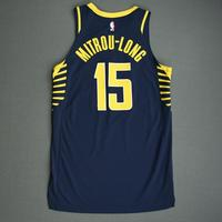 Naz Mitrou-Long - Indiana Pacers - Game-Worn Icon Edition Jersey - NBA India Games - Dressed, Did Not Play - 2019-20 NBA Season