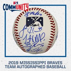 Photo of 2019 Mississippi Braves Team Autographed Baseball