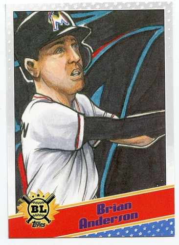 Photo of 2020 Topps Big League Star Caricature Reproductions #SCOBA Brian Anderson