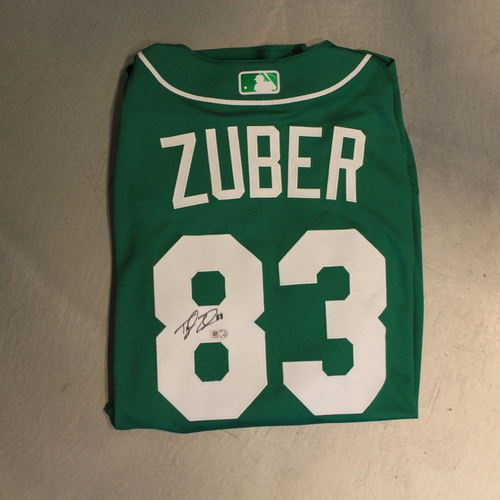 Photo of Autographed 2020 St. Patrick's Day Jersey: Tyler Zuber #83 (Size 44)