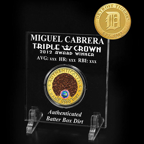 Photo of Detroit Tigers Miguel Cabrera Triple Crown Dirt Acrylic