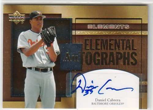 Photo of 2007 Upper Deck Elements Elemental Autographs #DC Daniel Cabrera