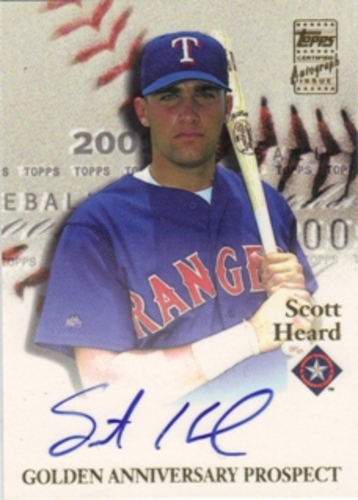 Photo of 2001 Topps Golden Anniversary Autographs #GAASH Scott Heard G1