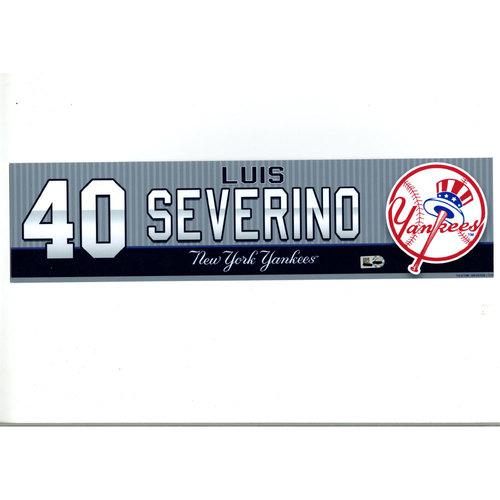 Luis Severino New York Yankees 2016 Game-Used #40 Locker Room Nameplate (8/7/2016)