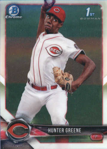 Photo of 2018 Bowman Chrome Prospects #BCP48 Hunter Greene