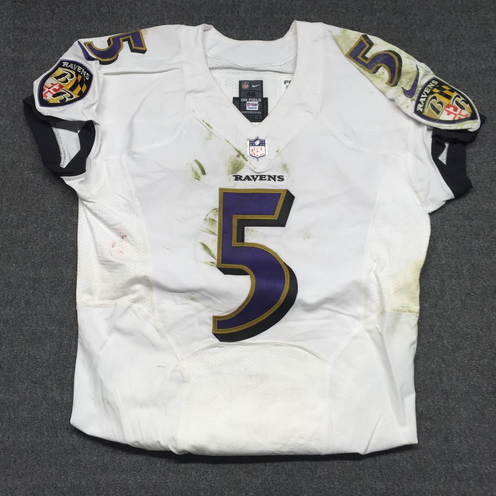 premium selection 0aad5 5906b NFL Auction | London Games - Ravens Joe Flacco game worn ...