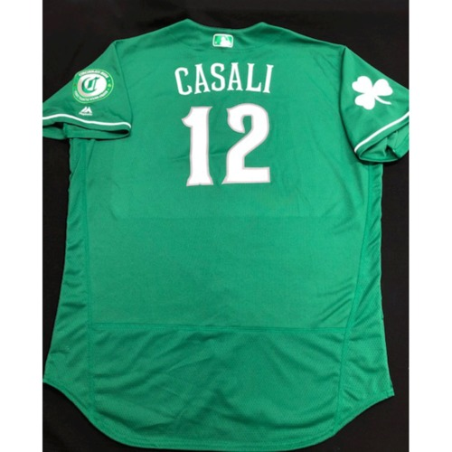 Curt Casali -- Game-Used Jersey -- 2019 St. Patrick's Day