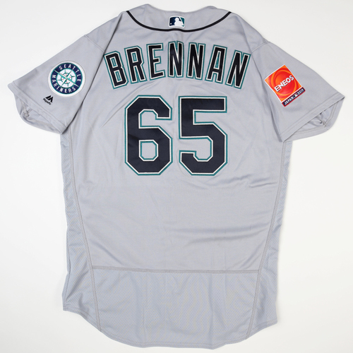 Photo of 2019 Japan Opening Day Series - Game Used Jersey - Brandon Brennan, Seattle Mariners at Oakland Athletics -3/18/2019 , 3/20/2019