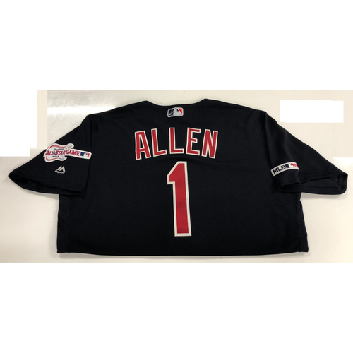 Photo of Greg Allen Game Used 2019 Opening Day Jersey 3/28/19