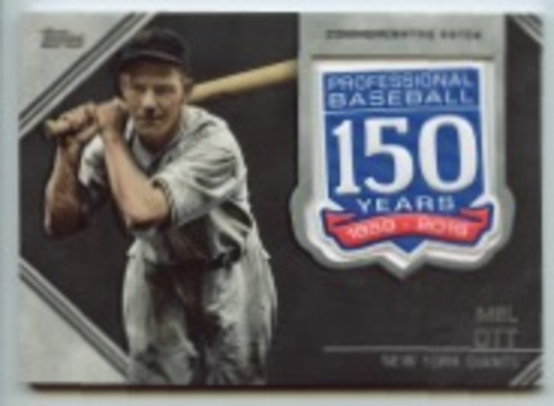 Photo of 2019 Topps Update 150th Anniversary Manufactured Patches #AMPMO Mel Ott
